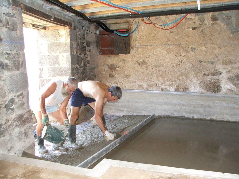 Travaux b timent 1 installation d 39 une chambre froide - Couler une dalle beton interieur ...